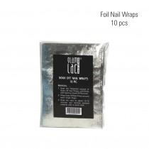Foil  nail wraps 10 pcs